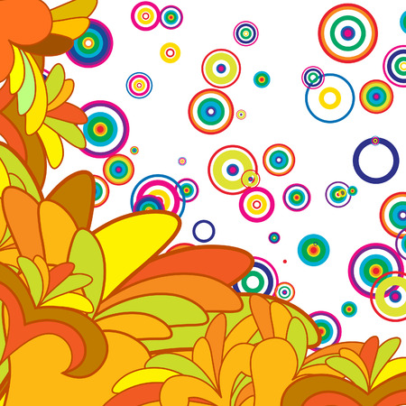 minims: Abstract vector floral background for design use