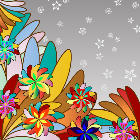 Abstract vector floral background for design use Vector