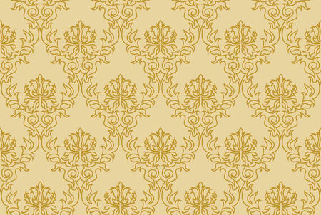 Abstract damask seamless background for design use