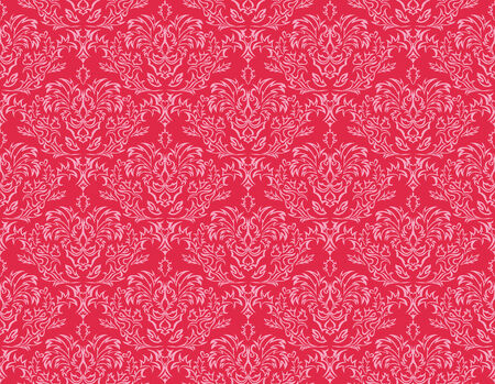 Abstract damask seamless background for design use Vector