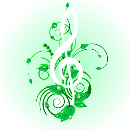 Grunge vector musical notes background for design use