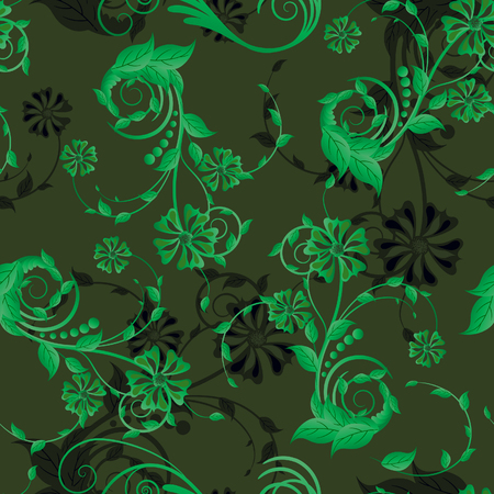 Floral seamless background for yours design use. For easy making seamless pattern just drag all group into swatches bar, and use it for filling any contours. Stock Vector - 4594296