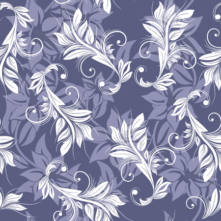 Floral seamless background for yours design use. For easy making seamless pattern just drag all group into swatches bar, and use it for filling any contours. Stock Vector - 4594294