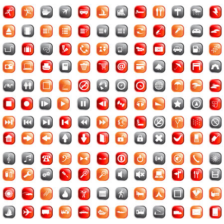 Biggest collection of different icons for using in web design Stock Vector - 4616456