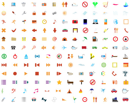 Biggest collection of different icons for using in web design Stock Vector - 4616455