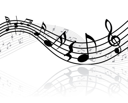 funky music: Grunge vector musical notes background for design use