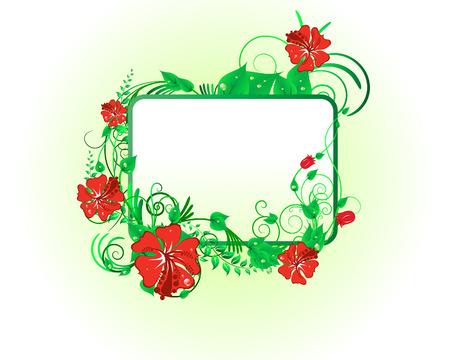 Verde floral vector de antecedentes para el diseño uso