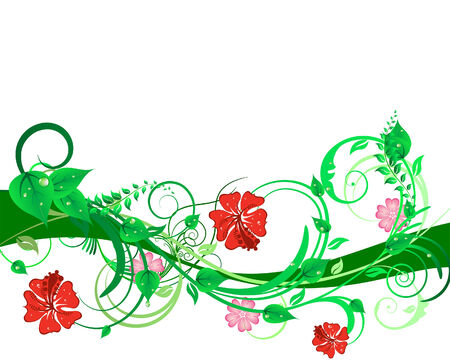 Green floral vector background for design use Stock Vector - 4616481