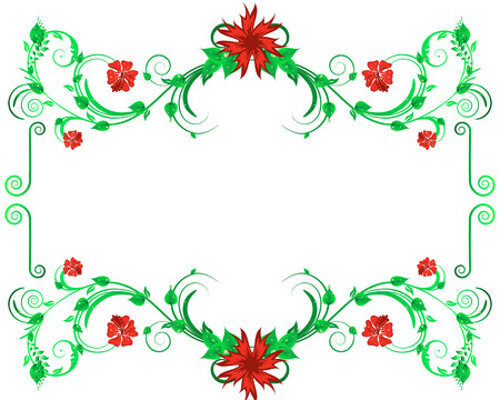 Green floral vector background for design use