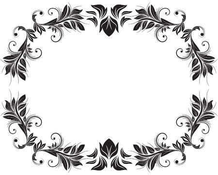 frame vector: Floral frame vector background for design use