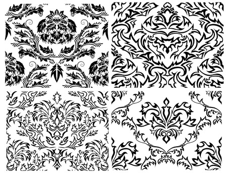 Damask seamless background for yours design use. For easy making seamless pattern just drag all group into swatches bar, and use it for filling any contours. Stock Vector - 4679530