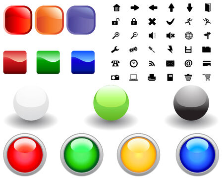 Collection of different icons for using in web design Vector