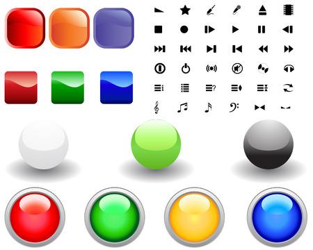 pictogrammes musique: Collection d'ic�nes diff�rentes pour l'utilisation dans le Web design