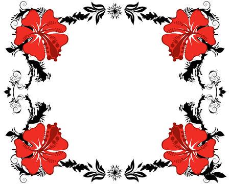 Resumen floral vector de antecedentes en el marco de estilo victoriano Foto de archivo - 4679541