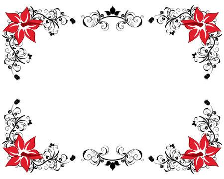 floral vector: Resumen floral vector de antecedentes en el marco de estilo victoriano Vectores