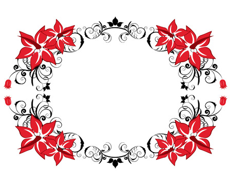 Abstract floral vector frame backgrounds  in Victorian style Stock Vector - 4679542