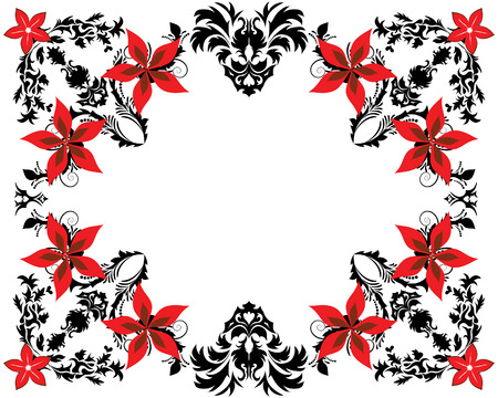 Abstract floral vector frame backgrounds  in Victorian style Stock Vector - 4679557
