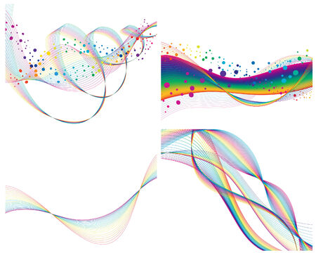 Set of colorful lines background for design use Stock Vector - 4774692