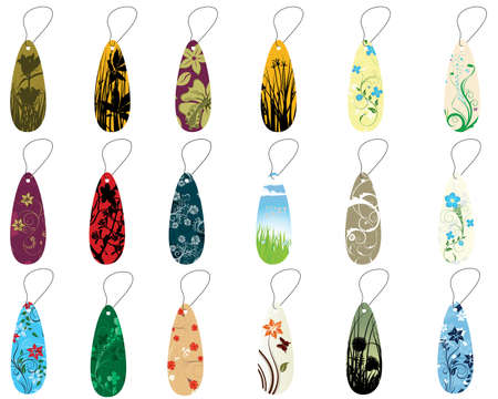 Set of different floral bookmarks for design use Stock Vector - 4774706
