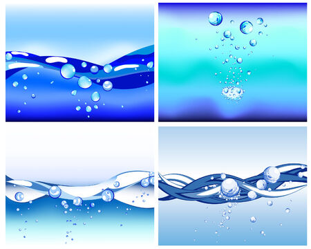 Abstract water vector background with bubbles of air Stock Vector - 4774704