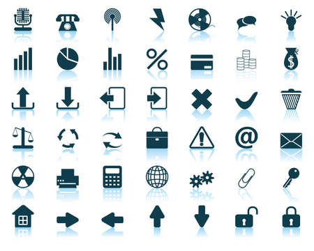 rubbish cart: New collection of different icons for using in web design Illustration