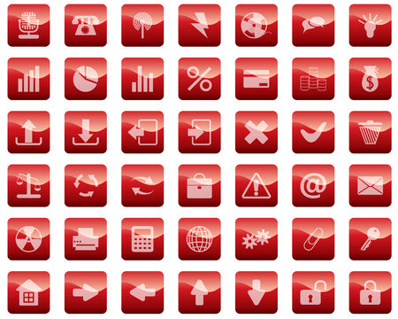 New collection of different icons for using in web design Stock Vector - 4797005