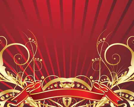 festal: Abstract vector background di festa con i colori rosso Vettoriali