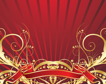 Abstract vector festive background in red colors Stock Vector - 4813523