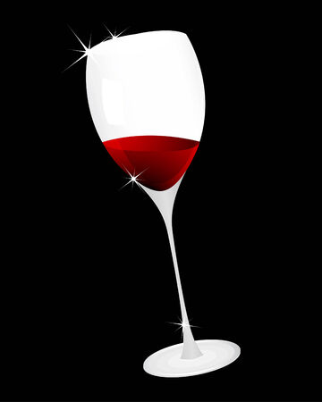 Vector illustration of  wine glass for design use Vector
