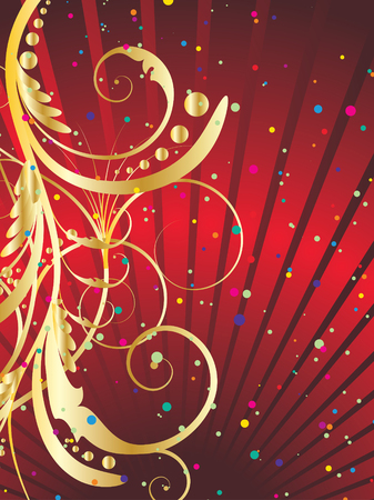 Abstract vector festive background in red colors Vector