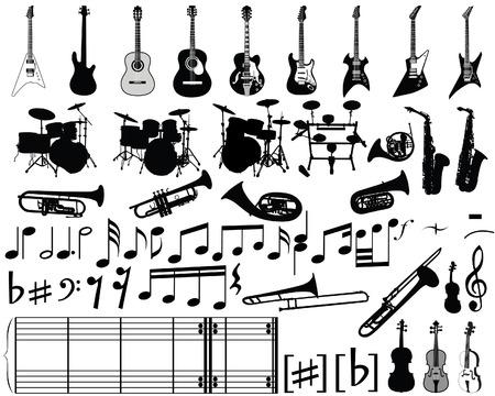 resonancia: Gran colecci�n de elementos musicales para el dise�o uso