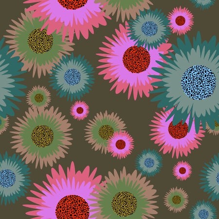 Flower seamless vector background for design use Vector
