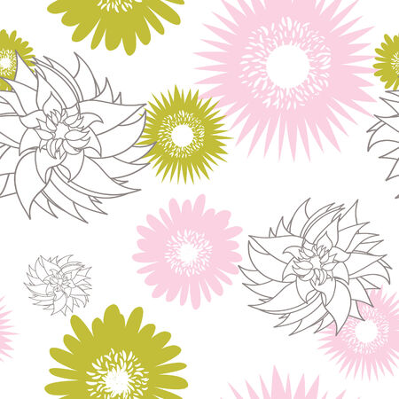 Flower seamless vector background for design use Stock Vector - 4818087