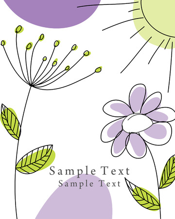 Abstract vector greeting card for design use. Vector