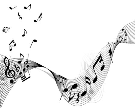 cosa: Notas musicales de vectores cosas de fondo para su uso en el dise�o