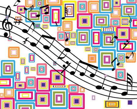symbol vector: Musical notes stuff vector background for use in design