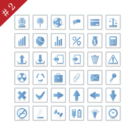 New collection of different icons for using in web design. Set #2. Stock Vector - 4839198