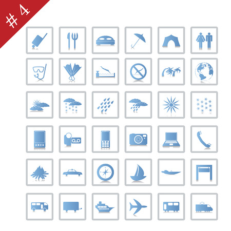 Collection of different icons for using in web design. Set #4. Stock Vector - 4839205