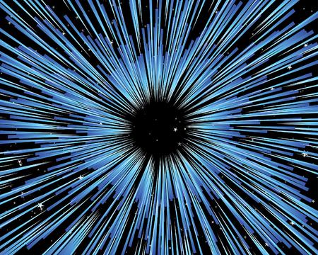 Attraverso l'universo vettore sfondo utilizzare per la progettazione