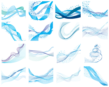 curve line: Abstract water vector background with bubbles of air