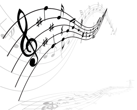 half stuff: Musical notes stuff vector background for use in design