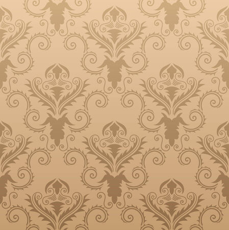 Abstract damask seamless vector background for design use Vector
