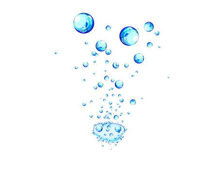 Abstract water vector background with bubbles of air Stock Vector - 4887207