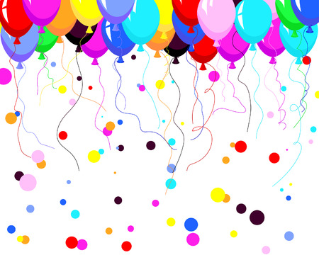 Beautiful colour balloon in the air. Vector illustration. Stock Vector - 4894585
