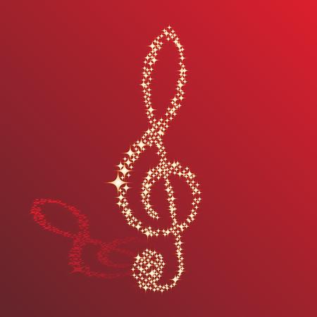 Note musicali vector background chiave per la progettazione