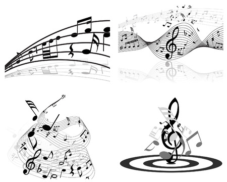 Set of vector musical notes background for design use Stock Vector - 4920164
