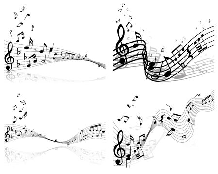 Set of vector musical notes background for design use Stock Vector - 4920166