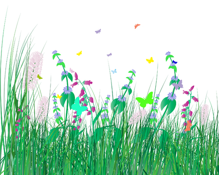 Vector illustration grass background for design use Stock Vector - 4949669