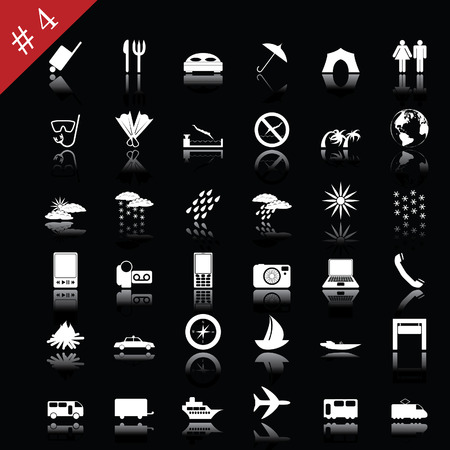 Collection of different icons for using in web design. Set #4. Vector