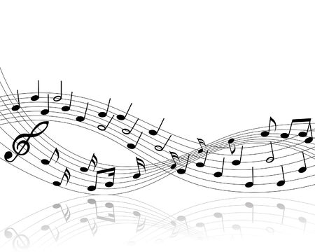Vector musical notes staff background for design use Stock Vector - 5007450
